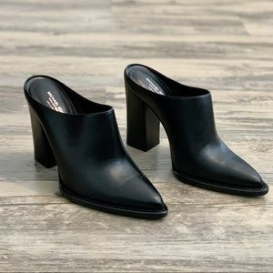 Michael Kors Collection Bond Black Leather Mule